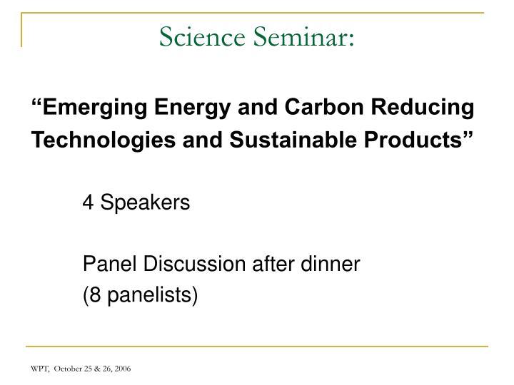 Science Seminar: