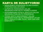 karya dr sulistyorini