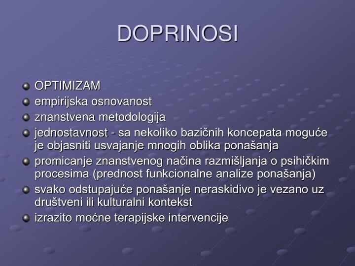 DOPRINOSI