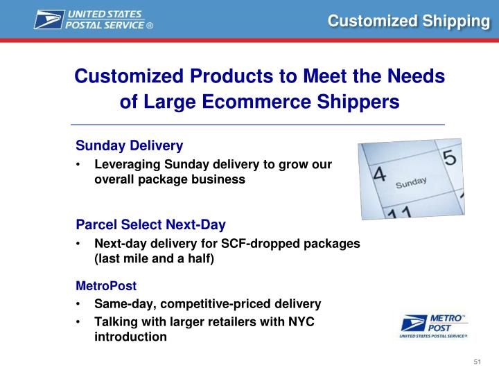 Customized Shipping