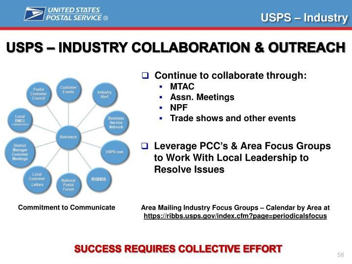 USPS – Industry