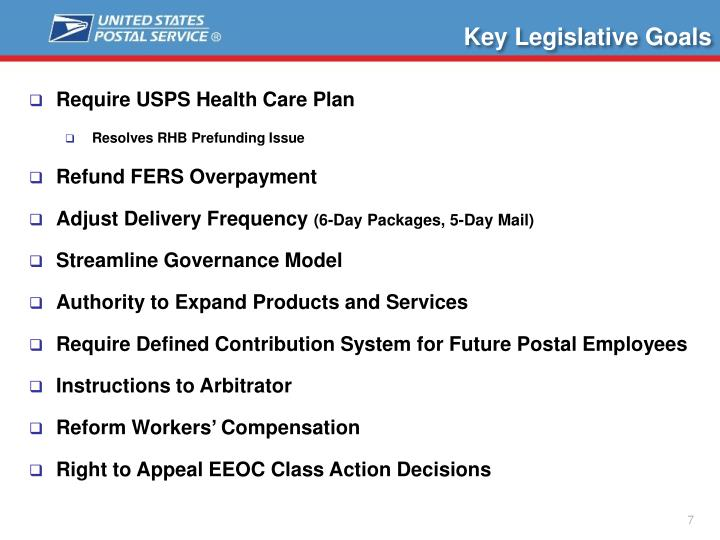 Key Legislative Goals
