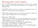 planning policy and its impact