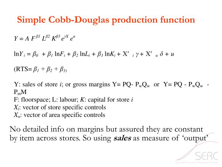 Simple Cobb-Douglas production function