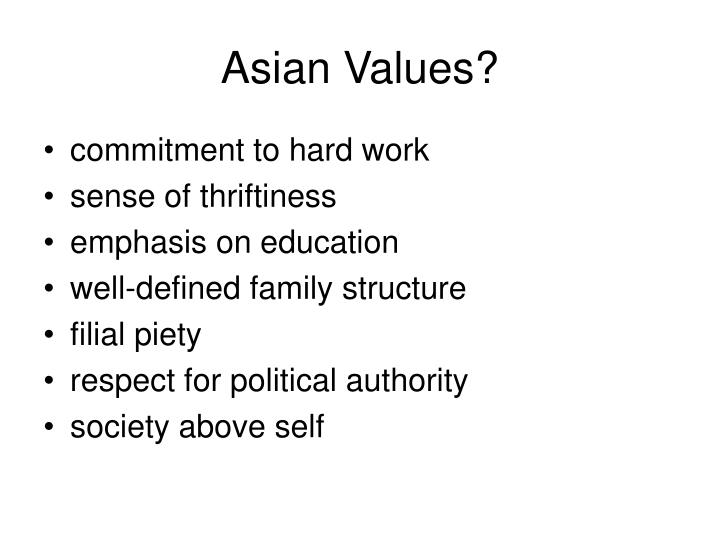 Asian Values?
