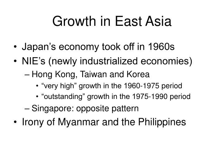Growth in East Asia