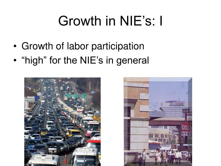 Growth in NIE's: I