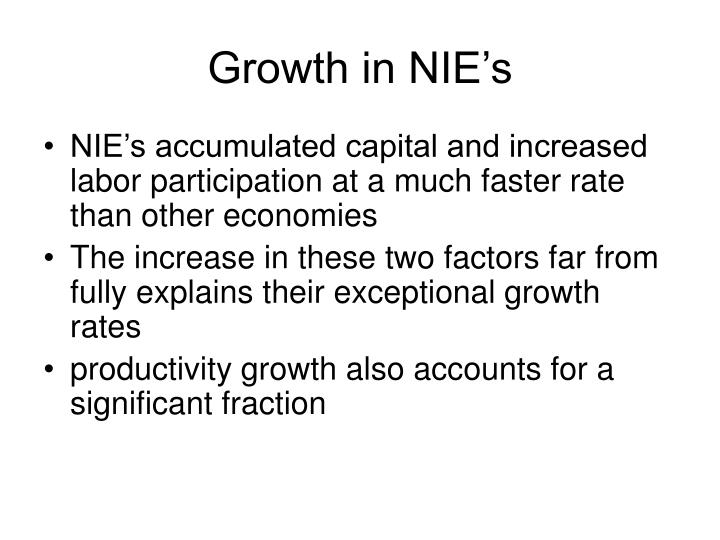 Growth in NIE's