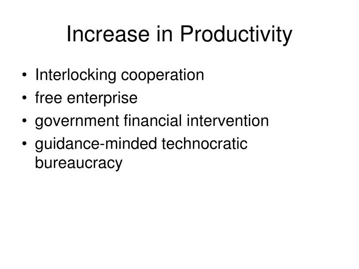 Increase in Productivity