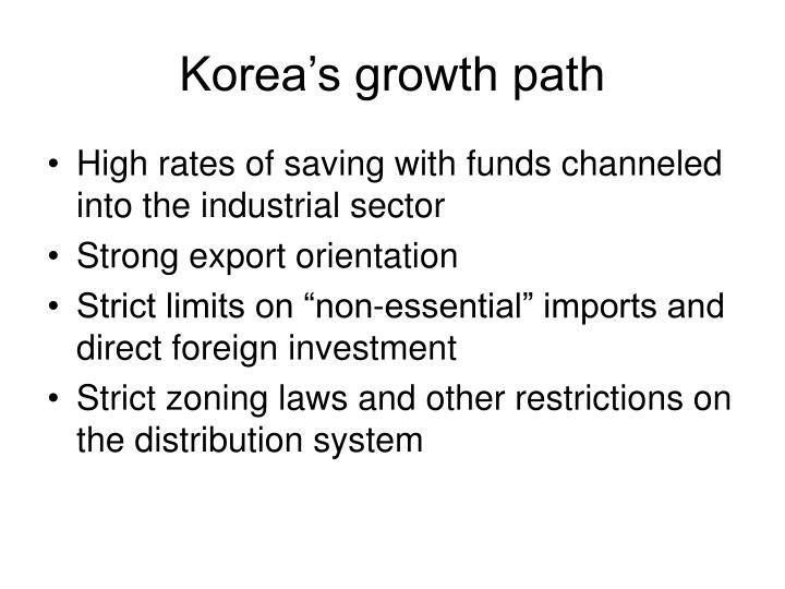 Korea's growth path