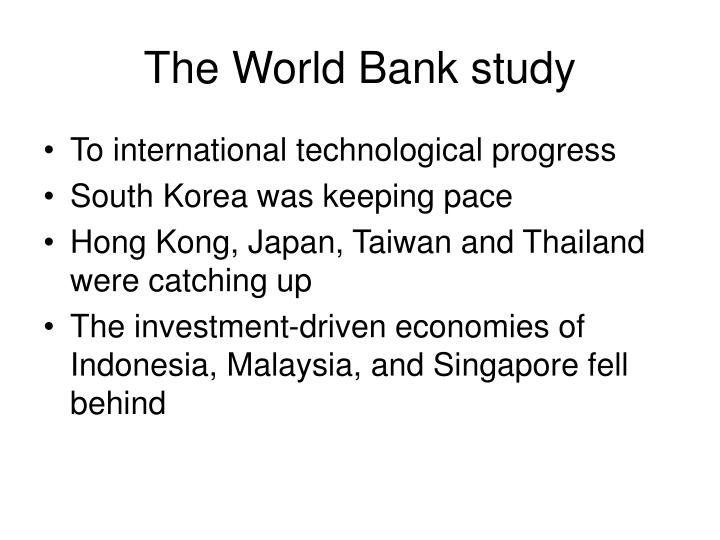 The World Bank study