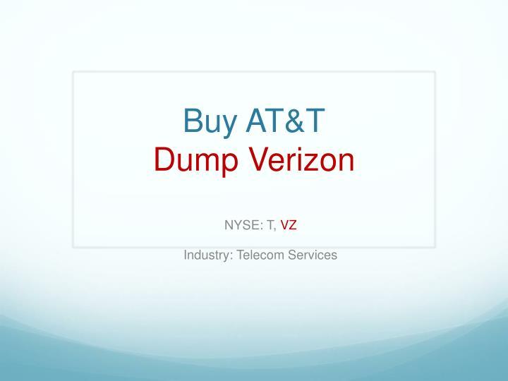 Buy AT&T