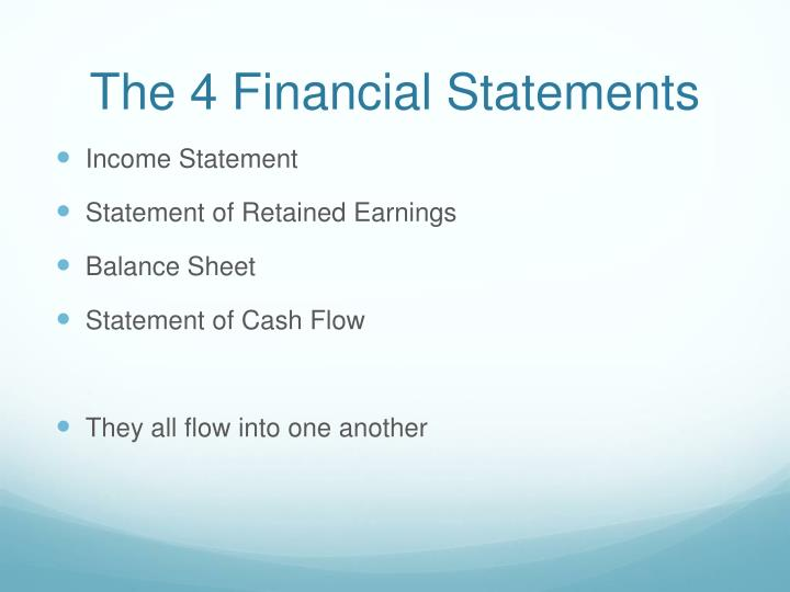 The 4 Financial Statements