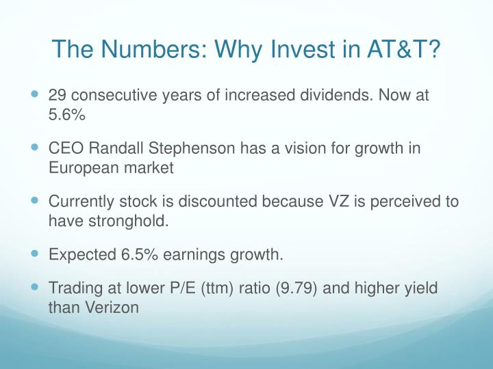 The Numbers: Why Invest in AT&T?
