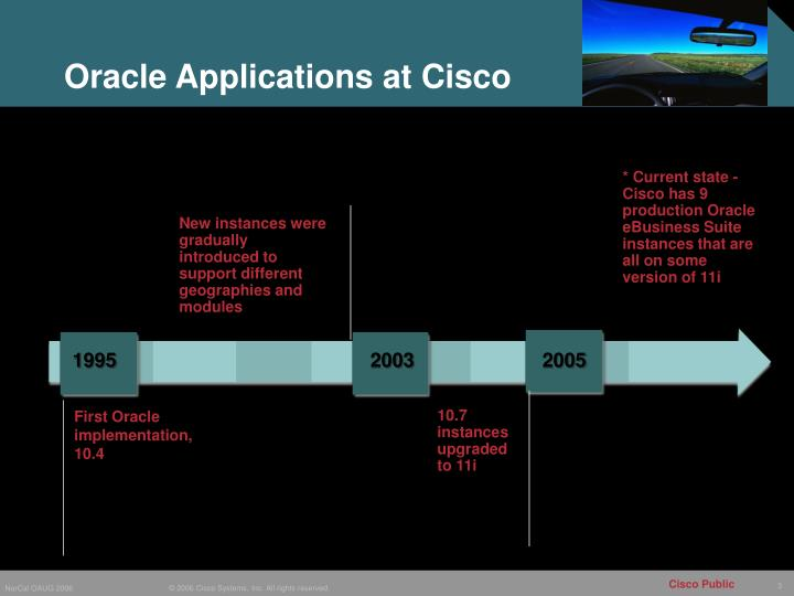 Oracle Applications at Cisco