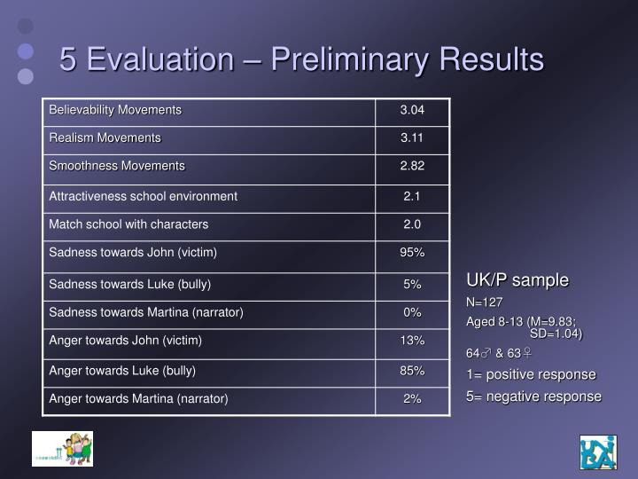 5 Evaluation – Preliminary Results