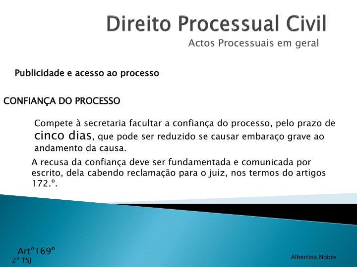 Publicidade e acesso ao processo