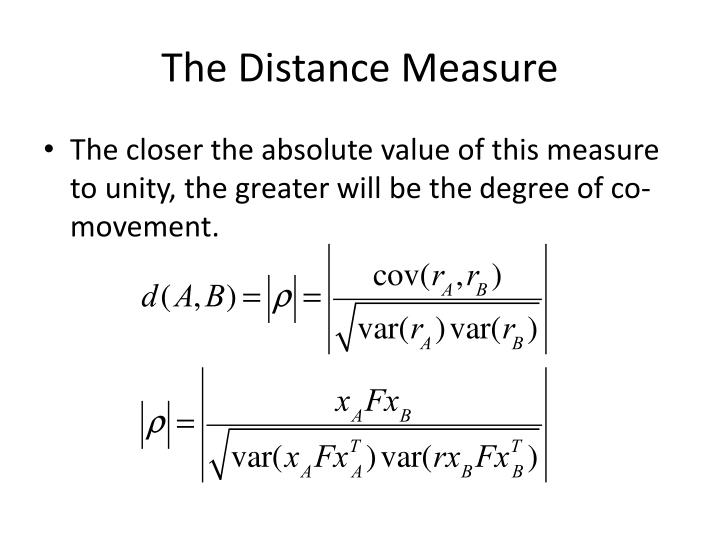 The Distance Measure