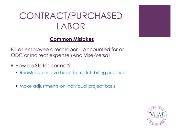 CONTRACT/PURCHASED LABOR