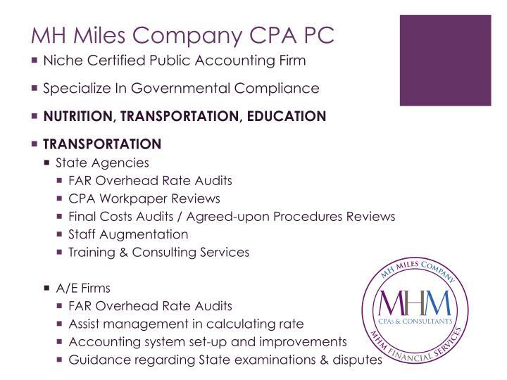 MH Miles Company CPA PC
