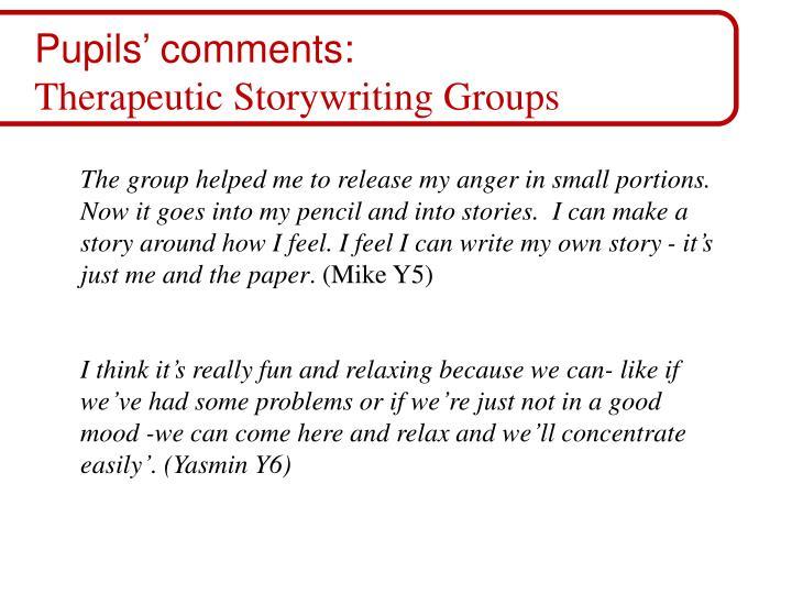 Pupils' comments: