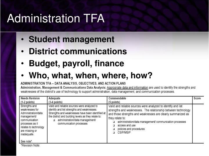 Administration TFA