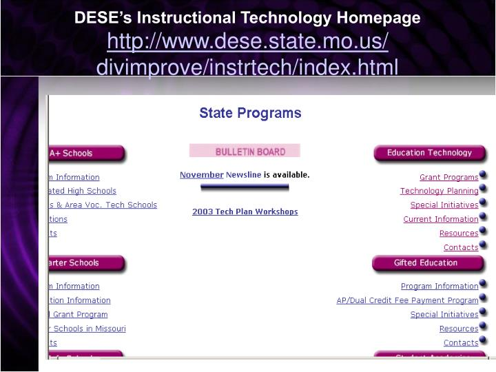 DESE's Instructional Technology Homepage