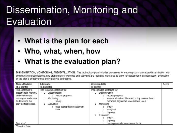 revised evaluation plan