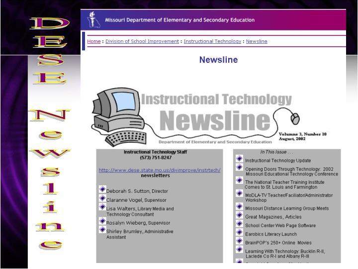 DESE Newsline