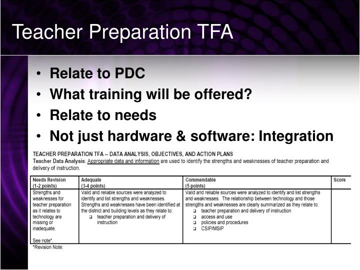 Teacher Preparation TFA