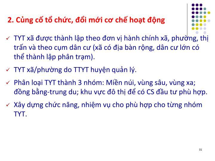 2. Cng c t chc, i mi c ch hot ng