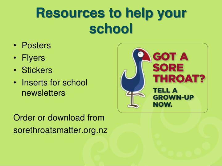 Resources to help your school
