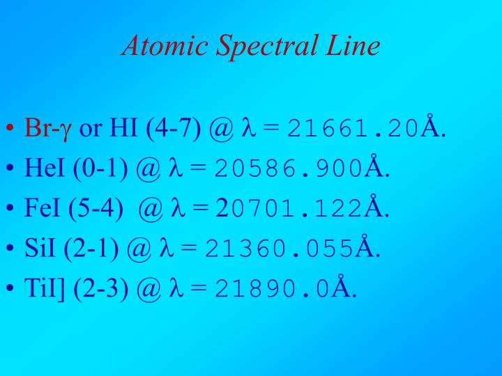 Atomic Spectral Line