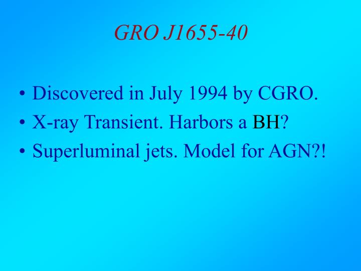 GRO J1655-40