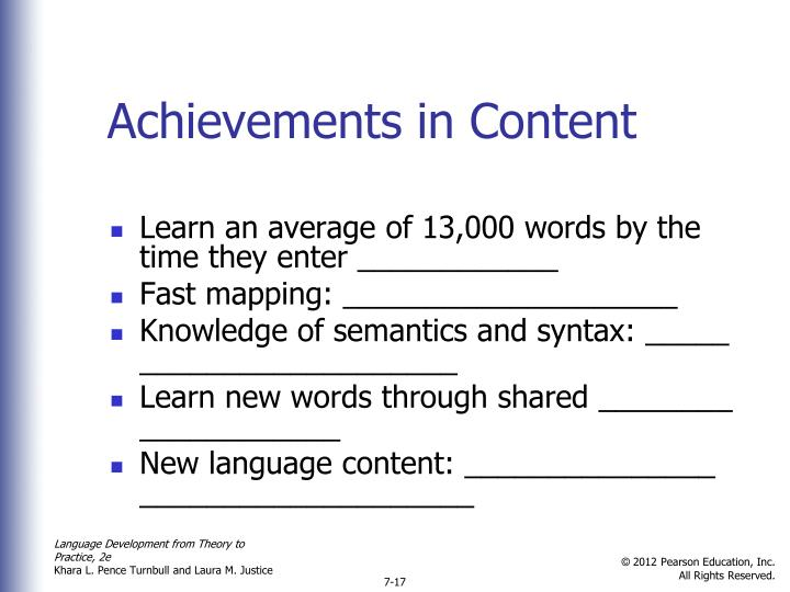 Achievements in Content