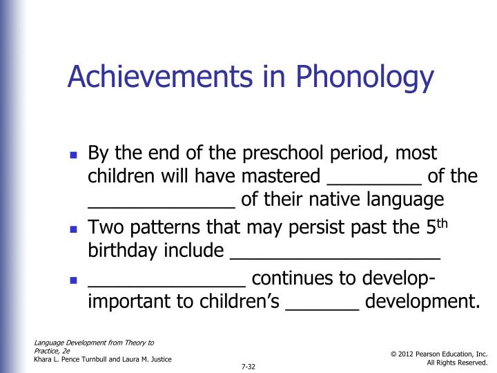 Achievements in Phonology