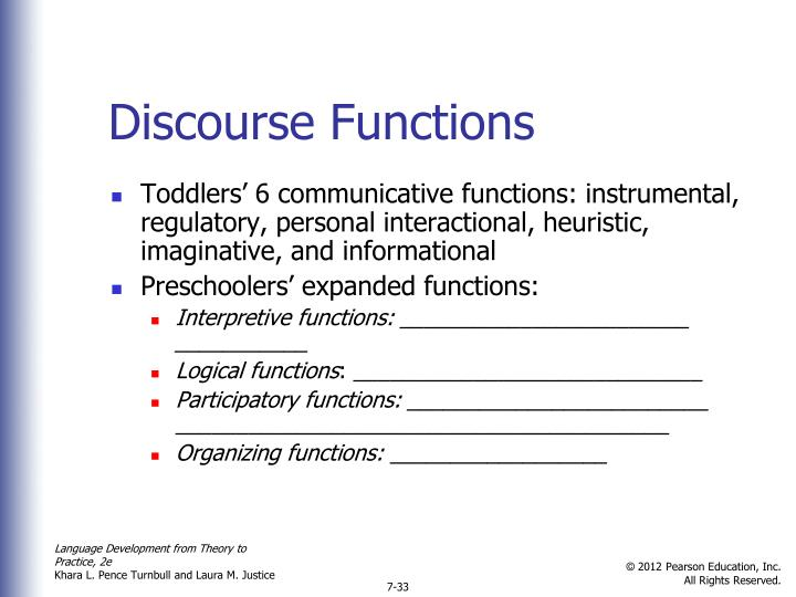 Discourse Functions