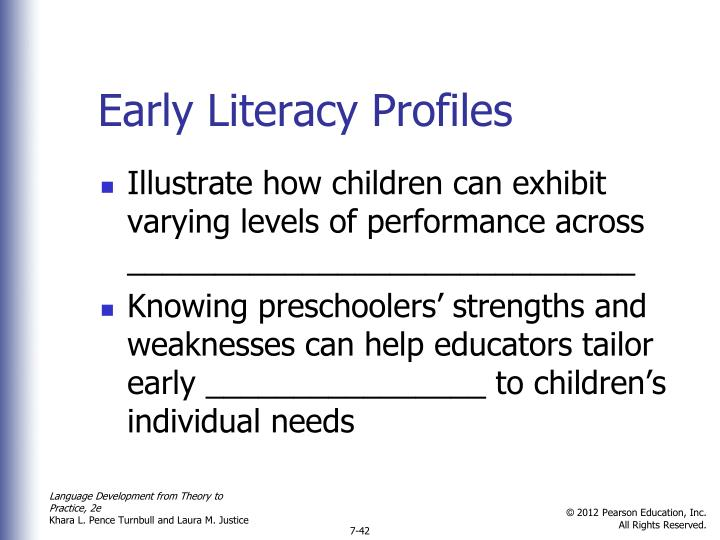 Early Literacy Profiles