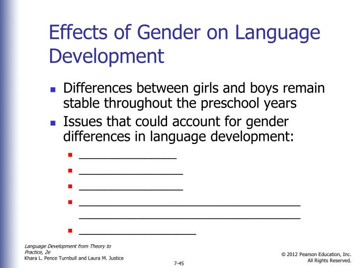 Effects of Gender on Language Development