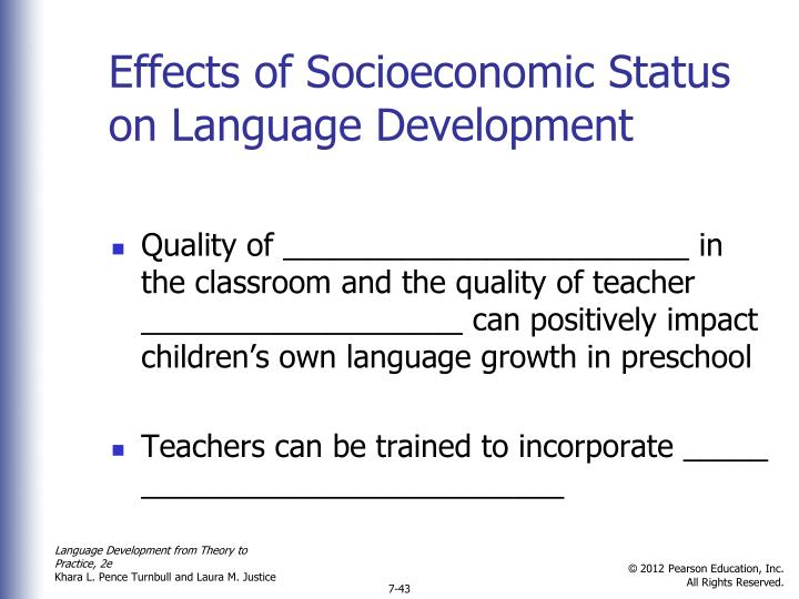 Effects of Socioeconomic Status on Language Development