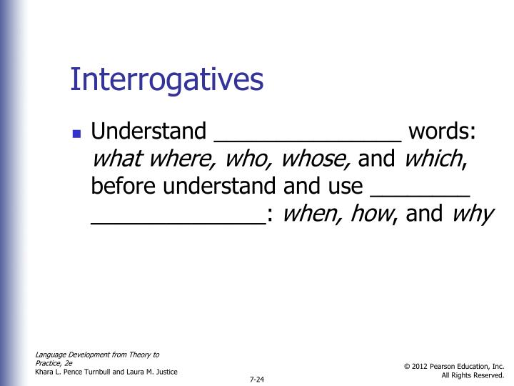 Interrogatives