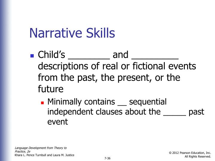 Narrative Skills