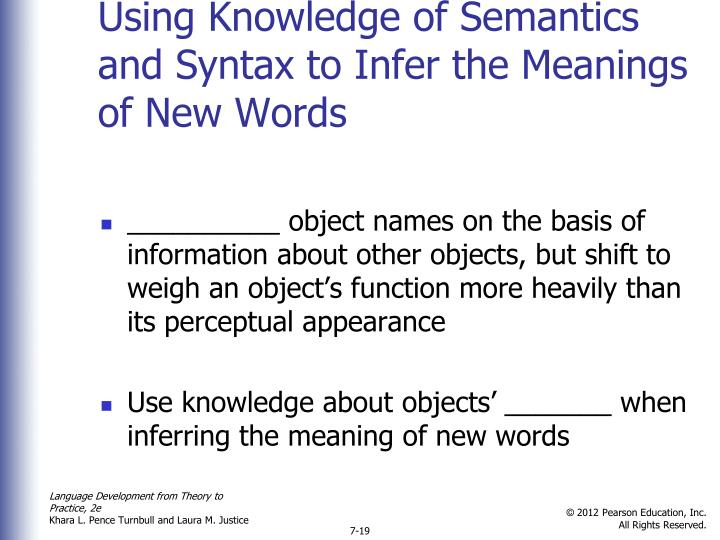 Using Knowledge of Semantics and Syntax to Infer the Meanings of New Words