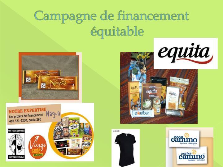 Campagne de financement équitable