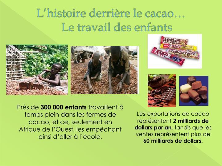 L'histoire derrière le cacao…