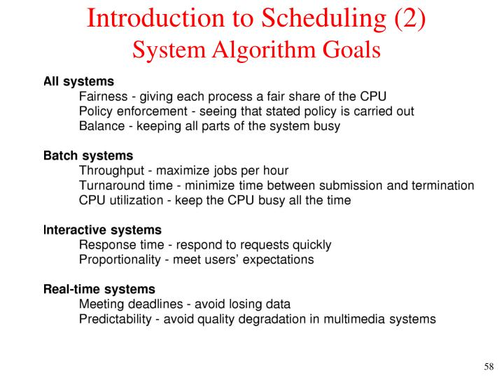 Introduction to Scheduling (2)