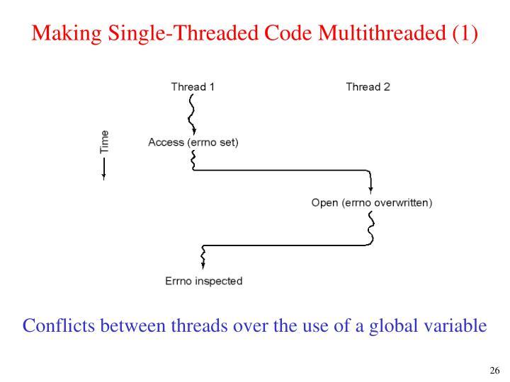 Making Single-Threaded Code Multithreaded (1)