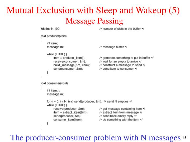 Mutual Exclusion with Sleep and Wakeup (5)