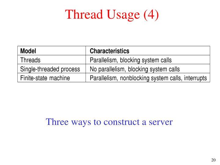 Thread Usage (4)