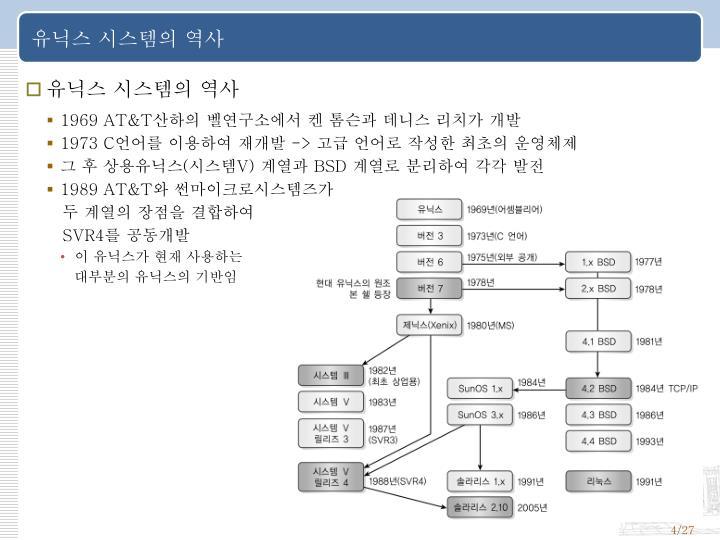 유닉스 시스템의 역사